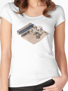 de_dust2 A Site CSGO Women's Fitted Scoop T-Shirt