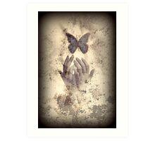 Nostalgic Butterfly Blues Art Print