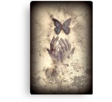 Nostalgic Butterfly Blues Canvas Print