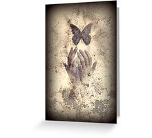 Nostalgic Butterfly Blues Greeting Card