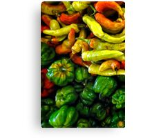JALAPENOS AND PEPPERS Canvas Print