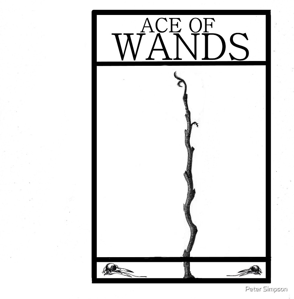 Ace of Wands by Peter Simpson