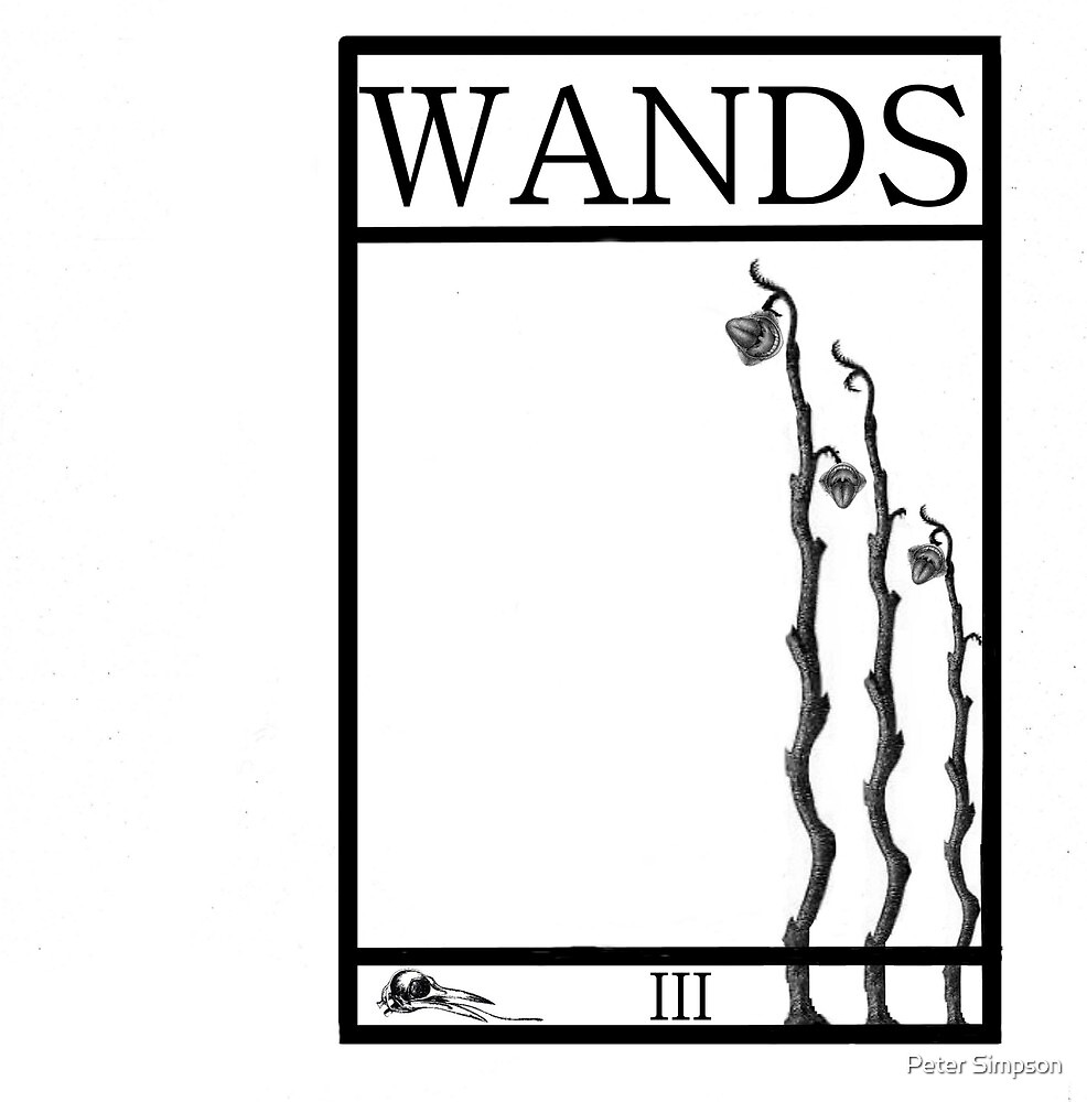3 of Wands by Peter Simpson
