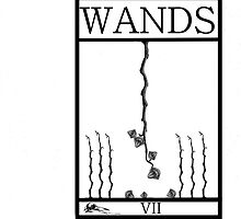7 of Wands by Peter Simpson