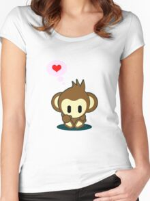 I heart Monkey Women's Fitted Scoop T-Shirt