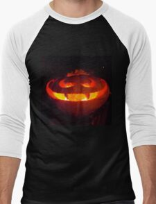 Vampire pumpkin Men's Baseball ¾ T-Shirt