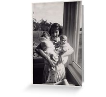Twins 1956;  What a Loving Arm Full Greeting Card