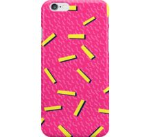 Retro 80's club leggings iPhone Case/Skin