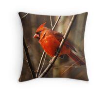 Crimson King Throw Pillow