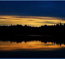 Capitol Lake Sunset by Robert Breisch