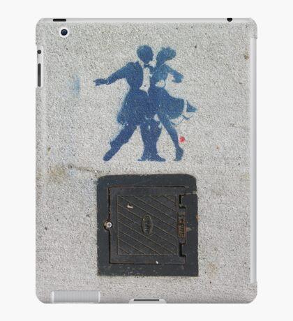 Sidewalk Dancers (stencil graffiti) iPad Case/Skin