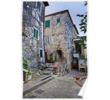 Walking in Gavignano Italy Poster