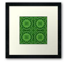 Green Mandala Pattern Framed Print