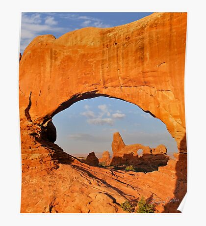 Turret Arch and North Window Poster