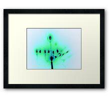Hanukkah Candles in Blue Framed Print
