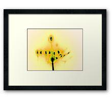 Hanukkah Candles in Yellow Framed Print