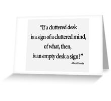 Cluttered Mind Greeting Card
