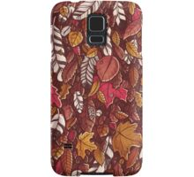 Leaves color red Samsung Galaxy Case/Skin