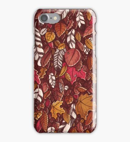 Leaves color red iPhone Case/Skin