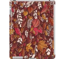 Leaves color red iPad Case/Skin