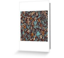 Leaves color blue Greeting Card