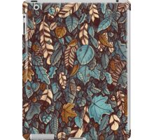 Leaves color blue iPad Case/Skin