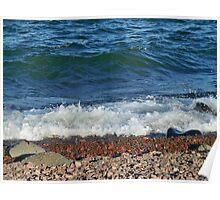 Shoreline of Lake Superior Duluth Minnesota Poster