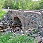 Recent renovation to stone arch Bridge in Duluth area by Diane Trummer Sullivan