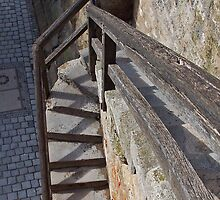 Rothenburg Stairway by David J Dionne