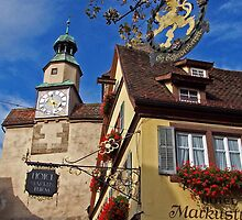 Rothenburg  - Markusturm by David J Dionne