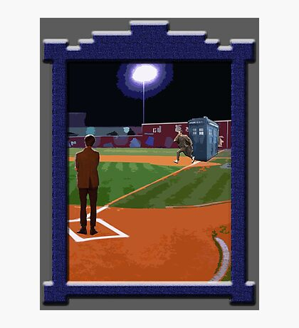 Dr. Who's on First Base Photographic Print