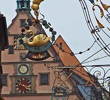Rothenburg  - Ratstrinkstube and Signs by David J Dionne