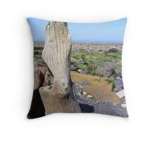 Beach wood - Saltwick Bay North Yorkshire Throw Pillow