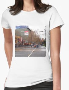 A rainy day in Melbourne VIC Australia  Womens Fitted T-Shirt