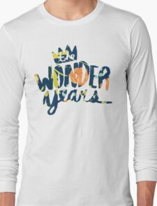 The Wonder Years floral logo  Long Sleeve T-Shirt