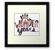 The Wonder Years floral logo  Framed Print