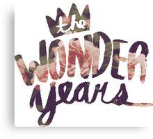 The Wonder Years floral logo  Canvas Print