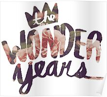 The Wonder Years floral logo  Poster