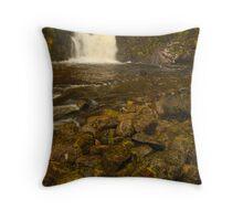 Eas Chai-aig Falls, Clunes, Highland, Scotland Throw Pillow