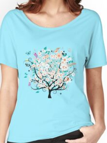 Beautiful flowers tree Women's Relaxed Fit T-Shirt