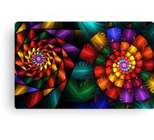 Almost Stained Glass Spirals Canvas Print