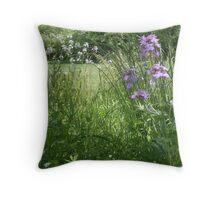 Indiana Wildflowers Throw Pillow