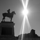 Monument at Capitol Building, Washington DC B/W by corder-courtier