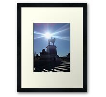 Monument in Light at Capitol Building, Washington  Framed Print