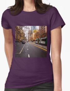 Collins Street Melbourne VIC Australia Womens Fitted T-Shirt