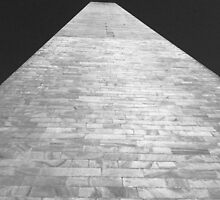 Washington Monument - Detail B/W by corder-courtier