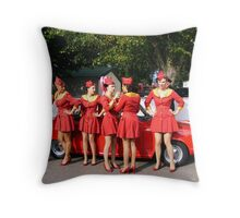Glam Cabs Throw Pillow