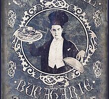 """Chef Dracula's Restaurant: """"For the BITE of your LIFE!"""" (Old Metal Sign) by torg"""