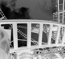 Roller Coaster, Alton Towers - Negative by corder-courtier