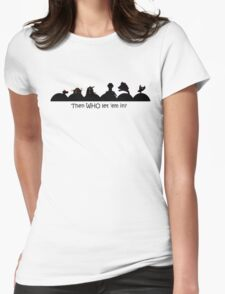 Too many robots in the theater! Womens Fitted T-Shirt